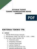 Kriteria Teknis Tpa