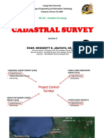 GE 122 Lecture 3 (CADASTRAL AND PUBLIC LAND SUBDIVISION SURVEY) by