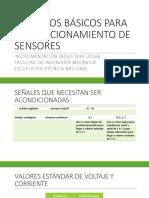 Acondicionamiento de Sensores
