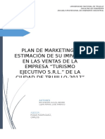 PLAN DE MARKETING Y ESTIMACIÓN DE SU IMPACTO EN LAS VENTAS