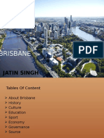 Brisbane 's History, Culture , Education , Governance ,Sport and Economy