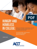 Hungry and Homeless in College Report