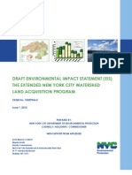 Draft Environmental Impact Statement for the extended New York City Land Acquisition Program