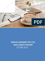 Daily Equity Report by Ripples Financial Advisory of 23rd March 2017