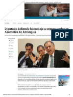 Asamblea Nombrará a Alejandro Ordoñez Hijo Adoptivo de Antioquia - Medellín - Colombia - ELTIEMPO