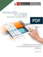 Catalogo de Servicios en Linea de La Administracion Publica