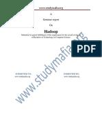 CSE Hadoop Report