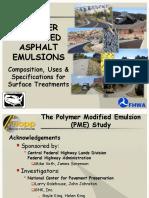 Polymer Modified Asphalt Emulsions