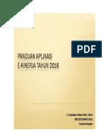 Buku Panduan Operasional Ekinerja 2016
