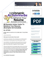 68 Dynamic Action Verbs to Enhance Your Resume (Examples List Included)