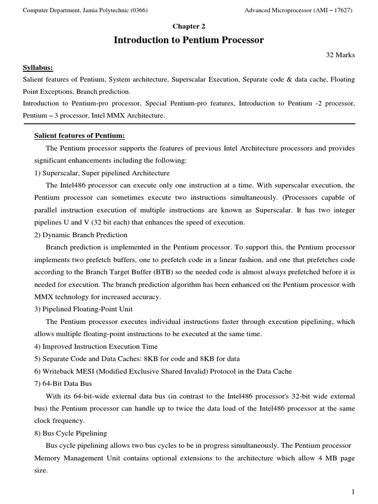 Pentium 3 Block Diagram Pdf Explained Wiring Diagrams 2 Introduction To Processor Central Processing Unit Online Course