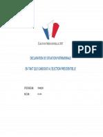 Déclaration de patrimoine François Fillon