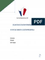 Déclaration de patrimoine Emmanuel Macron