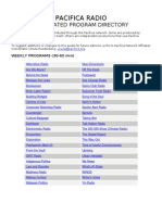 Pacifica Syndicated Program Directory