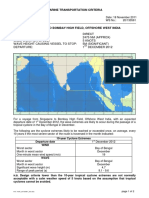 TOW Criteria - Singapore to Bombay High, Offshore West India - Departure - Dec