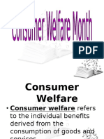 CONSUMER WELFARE MONTH