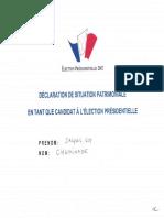 Déclaration de patrimoine Jacques Cheminade
