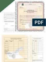 Certificat de Echivalare a Examenului de Capacitate