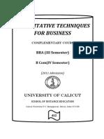 Quantitative Techniques for Business On28sept2015