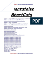 Quant Shortcuts