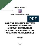 Auditul de Conformitate Privind Legalitatea Modului de Utilizare a Sumelor Provenite Din Finanțări Rambursabile