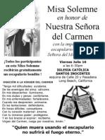 Misa Para N S Del Carmen 2010