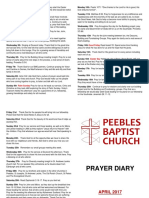 Prayer Diary April 2017