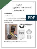 Chapter I Applications of Measurement Instrumentation