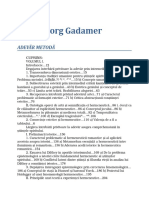 Hans Georg Gadamer - Adevar Si Metoda