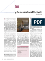 Tips for Using Demonstrations Effectively