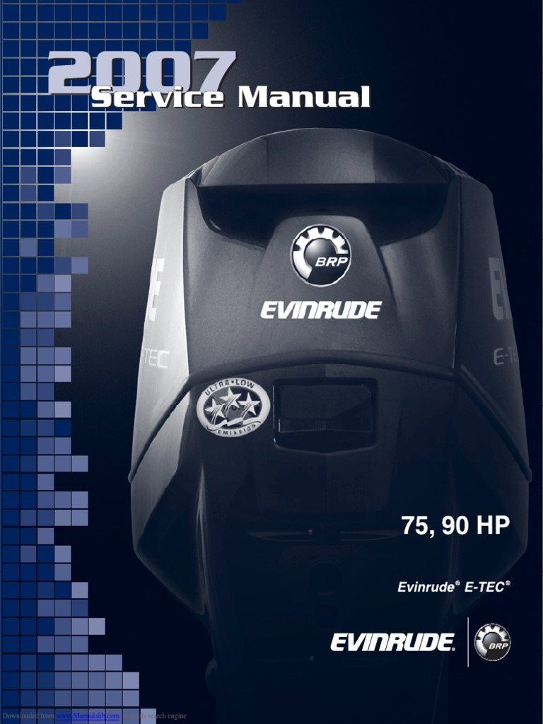 2007 Evinrude Etec 75 Hp Service Manual Air Pollution Fuel Injection Gm Lan Non Bose Wiring Diagram Productmanualguidecom