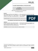 A Educação Da Classe Trabalhadora e o Pne (2014-2024)