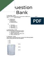 Question Bank - Bio