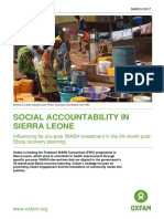 Social Accountability in Sierra Leone