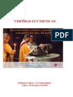 Librito Con Cantos - Vísperas Ecumnénicas Lunes II T.O. Sem. Oración x La Unidad Xtianos