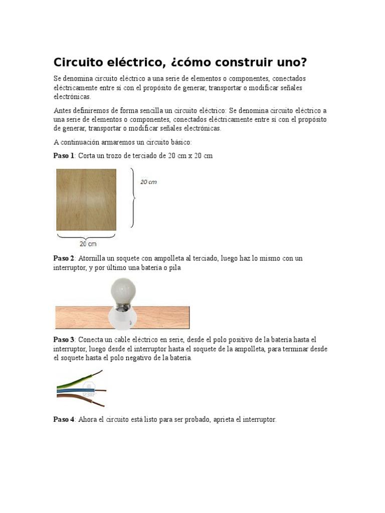 Circuito Electrico Basico : Circuito eléctrico