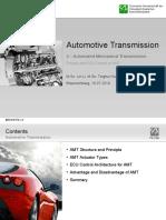 Automotive Transmission - Automated Mechanical Transmission