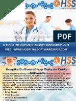 Dialysis Center Software from HospitalSoftwareShop.com