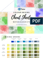 Watercolour Cheat Sheets