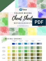 Watercolour Cheat Sheets