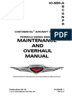 Continental aircraft engine. Maintenance and overhaul manual.