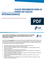 Artículos prohibidos para equipaje de mano en vuelos Internacionales .pdf