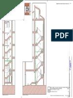 sección de ascensor en edificio