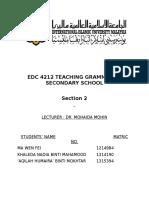 Classroom Observations Grammar 1