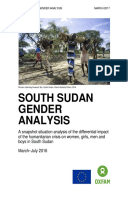 South Sudan Gender Analysis: A snapshot situation analysis of the differential impact of the humanitarian crisis on women, girls, men and boys in South Sudan
