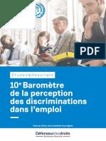 10e Baromètre de la perception des discriminations dans l'emploi