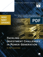 IEA Tackling Investment Challenges in Power Generation