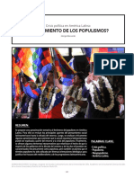 Crisis Politica AL Agotamiendo de Los Populismos