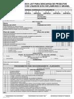 Checklist Para Descarga de Produtos Qumicos