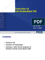 Overview of Microsoft Embeded OS